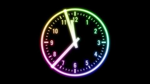 時計 針 秒針 12時 0時 CG CG動画