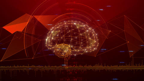 AI artificial intelligence digital network technologies 19 3 Mix 7 red 2 4k Animation
