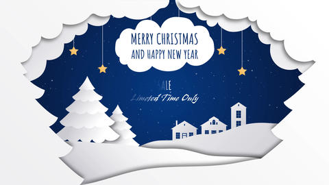 New Year Paper Style Title Motion Graphics Template