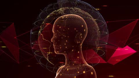 AI artificial intelligence digital network technologies 19 3 Human 7 red 3 4k Animation
