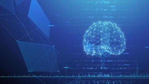 AI artificial intelligence digital network technologies 19 3 Brain 7 blue 1 4k Animation