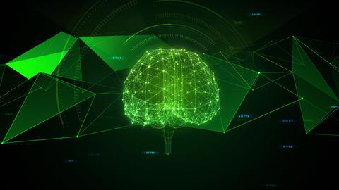 AI artificial intelligence digital network technologies 19 3 Brain 7 green 2 4k Animation