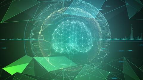 AI artificial intelligence digital network technologies 19 3 Brain 7 green 3 4k Animation