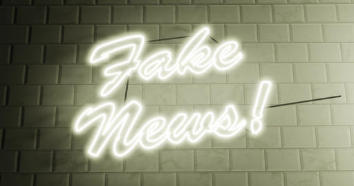 Fake news sign or alternative facts is propaganda and disinformation - 4k Animation