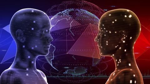 AI artificial intelligence digital network technologies 19 3 Duo 7 red 3 4k Animation