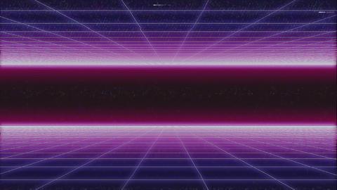 synthwave net 2 sides horizontal glitch 3d render Live Action