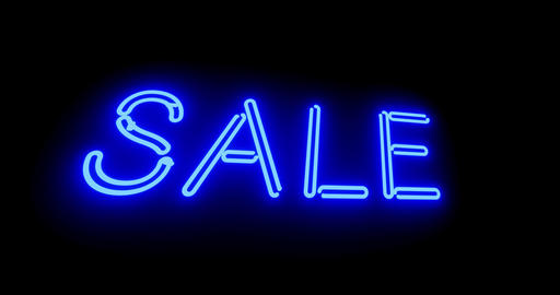 Neon sale sign shows discounts, offers or promotions for products - 4k Animation