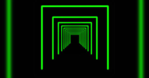 Glowing neon tunnel beams using rays of light in a pattern - 4k Animation