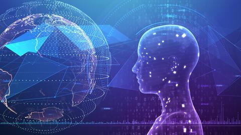 AI artificial intelligence digital network technologies 19 3 Mix 7 blue 3 4k Animation