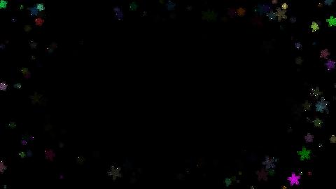 Around star particul(固定)アルファ付き CG動画