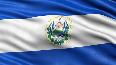 El Salvador flag seamless loop Animation