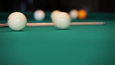 Billiard Balls Being Hit Footage