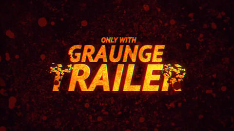 Grunge Trailer After Effects Template