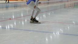 speed skating start sprint Footage
