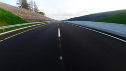 Speedy vehicle moving on a country road 4k Live Action