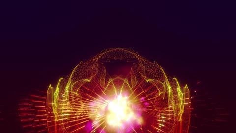 3d rendering of the particles vj circles 2 Animation