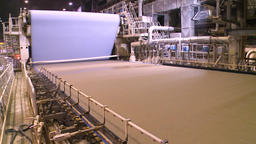 Spilled Cellulose. Paper Making Machine. 0