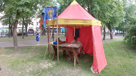 Camping camp of the old Russian Live Action
