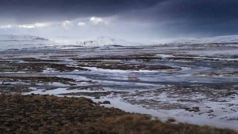 Time lapse of dramatic landscape in Iceland Live Action