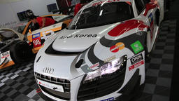 Audi R8 in F1 KOREA Stock Video Footage