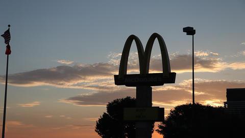 McDonalds early morning sunrise Footage