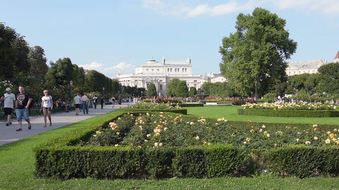 The Volksgarten park Footage