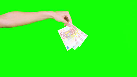 Feminine hand dropping banknotes Live Action