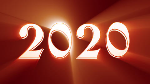 New Year 2020. Christmas. Bronze figures, midnight. Fairy clock. New Year composition on a black Animation