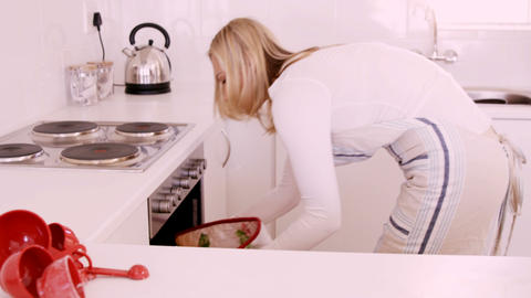Woman baking cookies Live Action