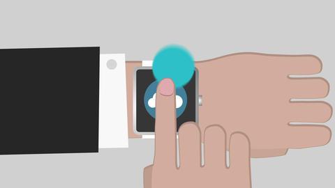 Futuristic smartwatch icon Live Action