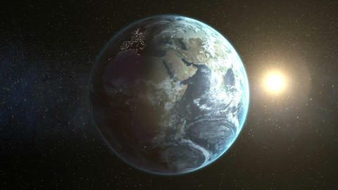 Illustrated image of earth and sun Live Action
