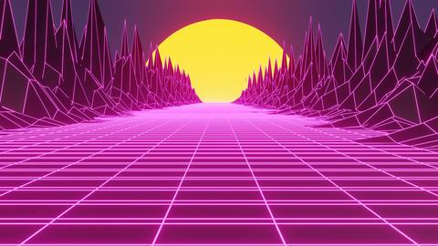 Synthwave animated background Animation