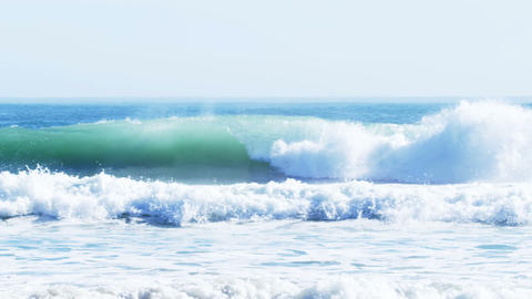 View of waves on seashore Live Action