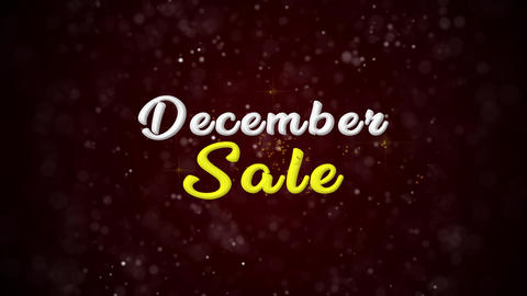 December Sale Colorful text appears on shiny bokeh background and glitter Animation