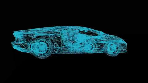 Holographic Lamborghini - Full HD Motion Background Animation (Loopable) Animation
