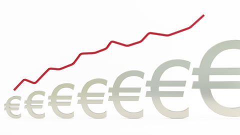 Euro rising graph Footage