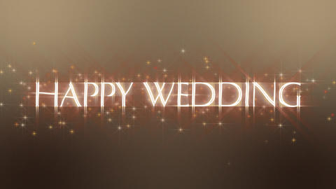 Happy Wedding Glow Stock Video Footage
