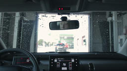 Car Cleaning in automatic Car Wash Footage