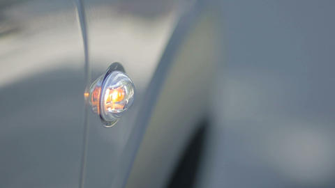 Flashing turn signal indicating right direction Footage