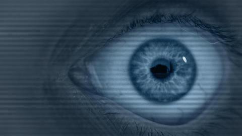 Human eye under surveillance Footage