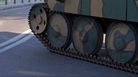 German tank Footage