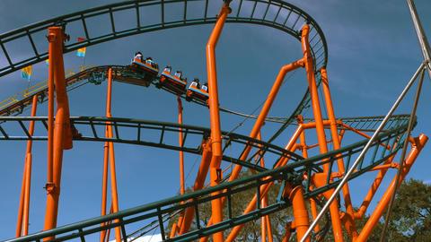 Roller Coaster at Florida State Fair, 4K Footage