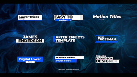 Glitch Lower Thirds After Effects Template