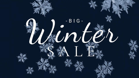 Digitally generated video of winter sale 4k Animation