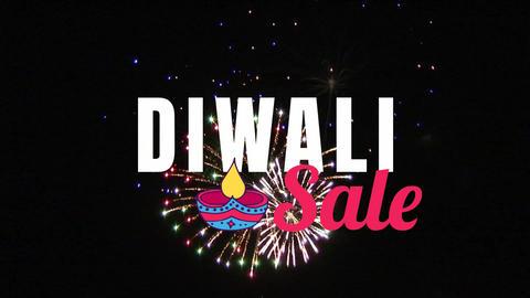 Diwali Sale text against illuminated background 4k Animation