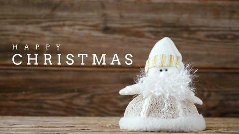 Christmas greeting with Christmas doll 4k Animation