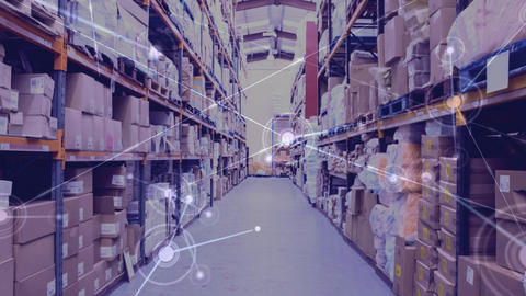 Warehouse Composition of Warehouse combined with animation of connection Animation