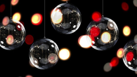 Christmas baubles and lights Animation
