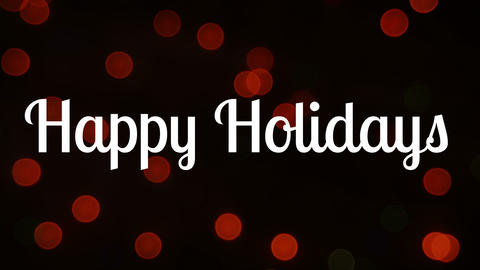 Happy holidays text and Christmas lights Animation