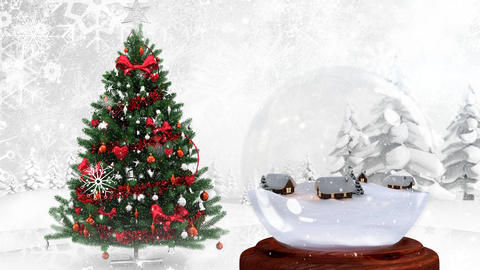 Beautiful Christmas animation of Christmas tree in magical forest 4k Animation